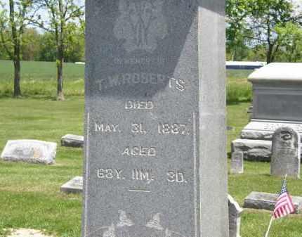 ROBERTS, T.W. - Marion County, Ohio | T.W. ROBERTS - Ohio Gravestone Photos