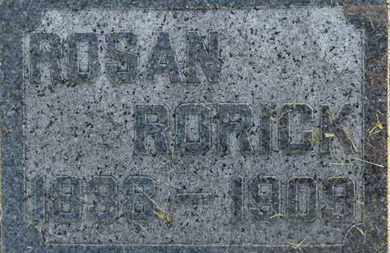 RORICK, ROSAN - Marion County, Ohio | ROSAN RORICK - Ohio Gravestone Photos