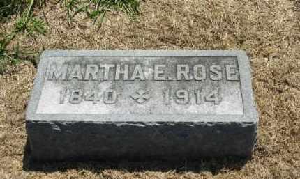 ROSE, MARTHA E. - Marion County, Ohio | MARTHA E. ROSE - Ohio Gravestone Photos