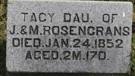ROSENCRANS, TACY - Marion County, Ohio   TACY ROSENCRANS - Ohio Gravestone Photos