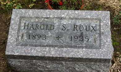 ROUX, HAROLD S. - Marion County, Ohio   HAROLD S. ROUX - Ohio Gravestone Photos