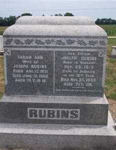 RUBINS, JOSEPH - Marion County, Ohio | JOSEPH RUBINS - Ohio Gravestone Photos