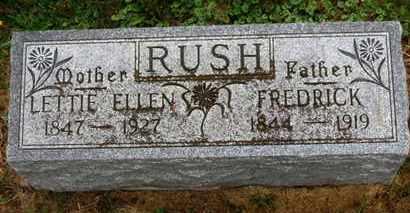RUSH, LETTIE ELLEN - Marion County, Ohio | LETTIE ELLEN RUSH - Ohio Gravestone Photos
