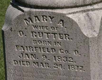 RUTTER, MARY A. - Marion County, Ohio | MARY A. RUTTER - Ohio Gravestone Photos