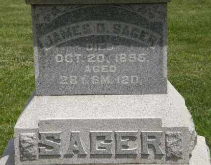 SAGER, JAMES D. - Marion County, Ohio | JAMES D. SAGER - Ohio Gravestone Photos