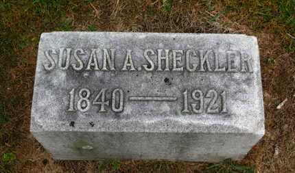 SHECKLER, SUSAN A. - Marion County, Ohio   SUSAN A. SHECKLER - Ohio Gravestone Photos