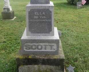 SCOTT, ELLA - Marion County, Ohio   ELLA SCOTT - Ohio Gravestone Photos