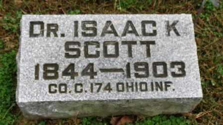 SCOTT, ISAAC K. - Marion County, Ohio | ISAAC K. SCOTT - Ohio Gravestone Photos