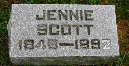 SCOTT, JENNIE - Marion County, Ohio | JENNIE SCOTT - Ohio Gravestone Photos