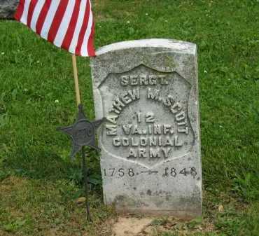 SCOTT, MATHEW M. - Marion County, Ohio | MATHEW M. SCOTT - Ohio Gravestone Photos