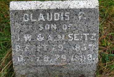 SEITZ, CLAUDIS F. - Marion County, Ohio | CLAUDIS F. SEITZ - Ohio Gravestone Photos