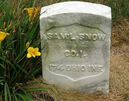 SNOW, SAM'L - Marion County, Ohio | SAM'L SNOW - Ohio Gravestone Photos