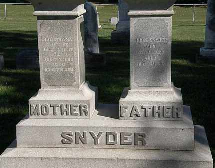 SNYDER, JUDGE - Marion County, Ohio | JUDGE SNYDER - Ohio Gravestone Photos