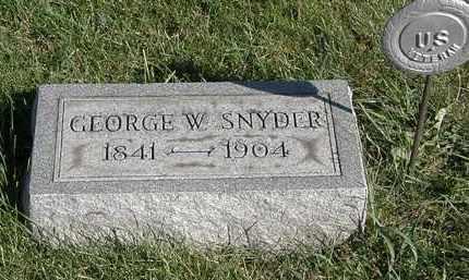 SNYDER, GEORGE W. - Marion County, Ohio   GEORGE W. SNYDER - Ohio Gravestone Photos