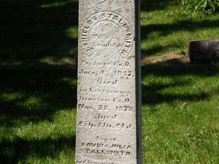 STALLSMITH, J. SHIELDS - Marion County, Ohio | J. SHIELDS STALLSMITH - Ohio Gravestone Photos