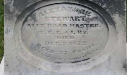 STEWART, ALEXANDER - Marion County, Ohio   ALEXANDER STEWART - Ohio Gravestone Photos