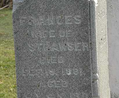 STRAWSER, FRANCES - Marion County, Ohio | FRANCES STRAWSER - Ohio Gravestone Photos