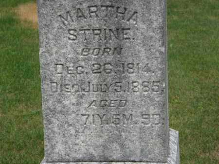 STRINE, MARTHA - Marion County, Ohio | MARTHA STRINE - Ohio Gravestone Photos