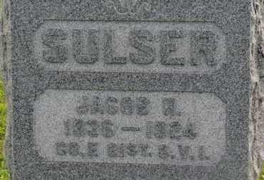 SULSER, JACOB R. - Marion County, Ohio   JACOB R. SULSER - Ohio Gravestone Photos