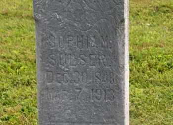 SULSER, SOPHIA M. - Marion County, Ohio   SOPHIA M. SULSER - Ohio Gravestone Photos