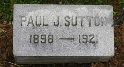 SUTTON, PAUL J. - Marion County, Ohio   PAUL J. SUTTON - Ohio Gravestone Photos