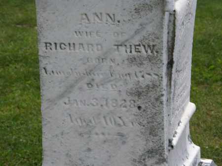 THEW, ANN - Marion County, Ohio | ANN THEW - Ohio Gravestone Photos