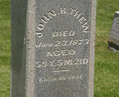 THEW, JOHN H. - Marion County, Ohio   JOHN H. THEW - Ohio Gravestone Photos