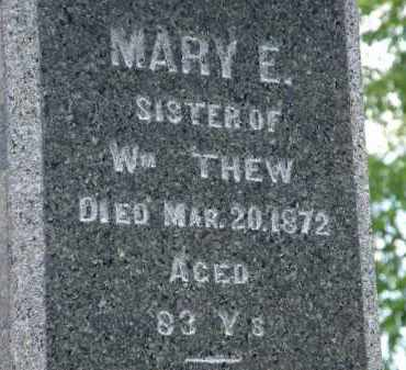 THEW, MARY E. - Marion County, Ohio | MARY E. THEW - Ohio Gravestone Photos