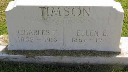 TIMSON, ELLEN E. - Marion County, Ohio | ELLEN E. TIMSON - Ohio Gravestone Photos