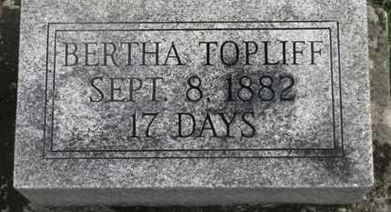 TOPLIFF, BERTHA - Marion County, Ohio | BERTHA TOPLIFF - Ohio Gravestone Photos