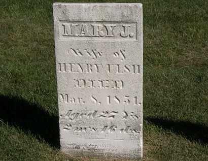ULSH, MARY J - Marion County, Ohio | MARY J ULSH - Ohio Gravestone Photos