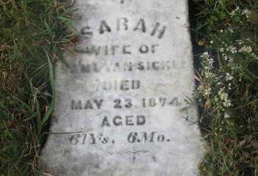 VANSICKLE, SARAH - Marion County, Ohio | SARAH VANSICKLE - Ohio Gravestone Photos