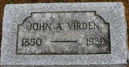 VIRDEN, JOHN A. - Marion County, Ohio | JOHN A. VIRDEN - Ohio Gravestone Photos