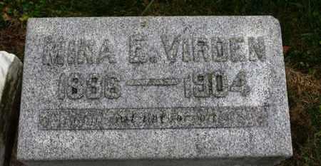 VIRDEN, NINA E. - Marion County, Ohio   NINA E. VIRDEN - Ohio Gravestone Photos