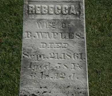 WAPLES, REBECCA - Marion County, Ohio   REBECCA WAPLES - Ohio Gravestone Photos