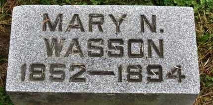 WASSON, MARY N. - Marion County, Ohio | MARY N. WASSON - Ohio Gravestone Photos