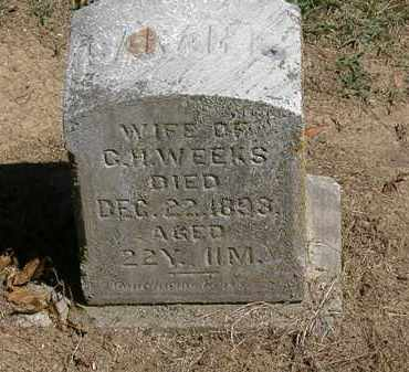 WEEKS, SARAH E. - Marion County, Ohio | SARAH E. WEEKS - Ohio Gravestone Photos