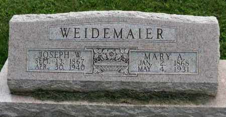 WEIDEMAIER, JOSEPH W. - Marion County, Ohio   JOSEPH W. WEIDEMAIER - Ohio Gravestone Photos