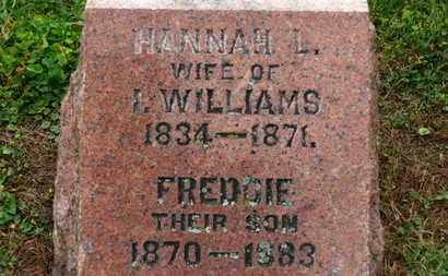 WILLIAMS, I. - Marion County, Ohio | I. WILLIAMS - Ohio Gravestone Photos