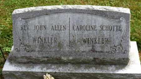 WINKLER, JOHN ALLEN - Marion County, Ohio | JOHN ALLEN WINKLER - Ohio Gravestone Photos
