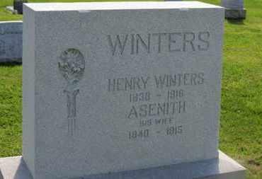WINTERS, ASENITH - Marion County, Ohio | ASENITH WINTERS - Ohio Gravestone Photos