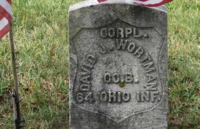 WORTMAN, DAVID J. - Marion County, Ohio | DAVID J. WORTMAN - Ohio Gravestone Photos