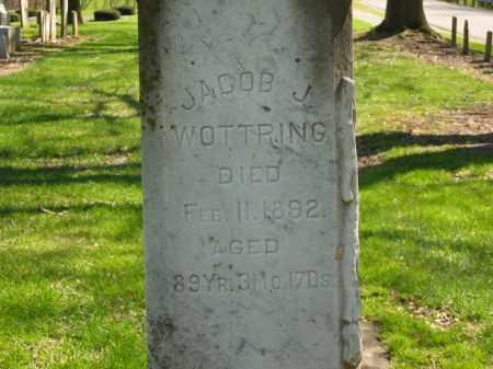 WOTTRING, JACOB J. - Marion County, Ohio   JACOB J. WOTTRING - Ohio Gravestone Photos