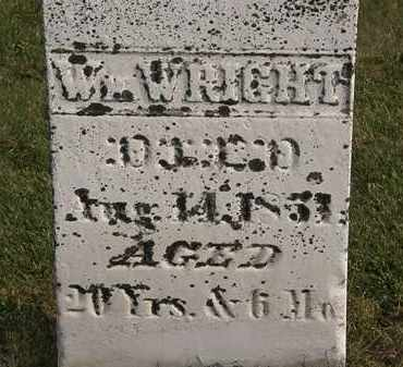 WRIGHT, WM. - Marion County, Ohio | WM. WRIGHT - Ohio Gravestone Photos