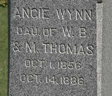 THOMAS WYNN, ANGIE - Marion County, Ohio | ANGIE THOMAS WYNN - Ohio Gravestone Photos