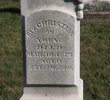 YOUNG, REV. CHRISTIAN - Marion County, Ohio | REV. CHRISTIAN YOUNG - Ohio Gravestone Photos