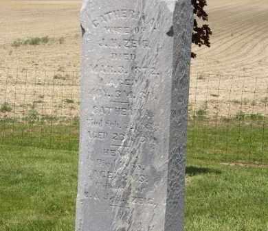 ZIEG, CATHERINA - Marion County, Ohio | CATHERINA ZIEG - Ohio Gravestone Photos
