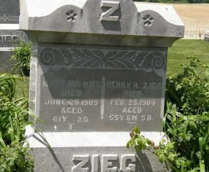 ZIEG, MARY - Marion County, Ohio   MARY ZIEG - Ohio Gravestone Photos