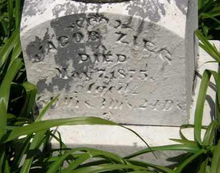 ZIEG, JACOB - Marion County, Ohio   JACOB ZIEG - Ohio Gravestone Photos