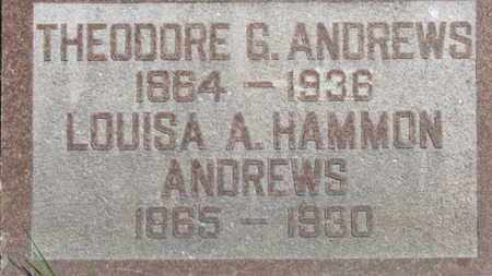 HAMMON ANDREWS, LOUISA A. - Medina County, Ohio | LOUISA A. HAMMON ANDREWS - Ohio Gravestone Photos